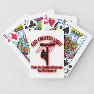 God Created Light - Funny Bible, Lineman Design Bicycle Playing Cards