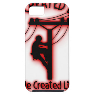 God Created Light - Funny Bible, Lineman Design Case For The iPhone 5