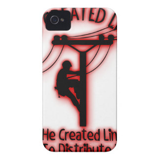 God Created Light - Funny Bible, Lineman Design iPhone 4 Case