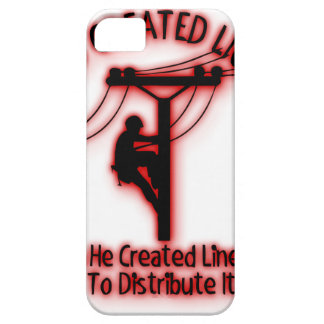 God Created Light - Funny Bible, Lineman Design iPhone 5 Case