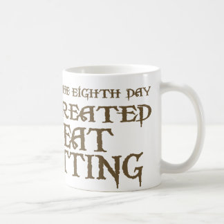 God Created Meat Cutting Coffee Mug