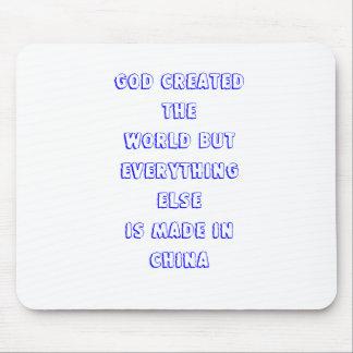 God created mouse pad