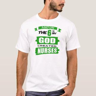 God Created Nurses T-Shirt