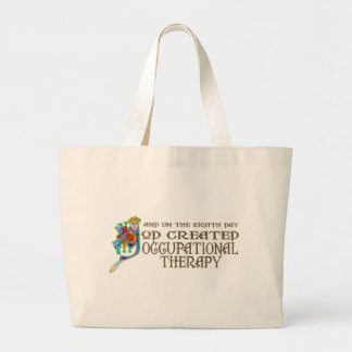 God Created Occupational Therapy Large Tote Bag