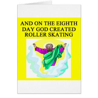 god created roller skating card