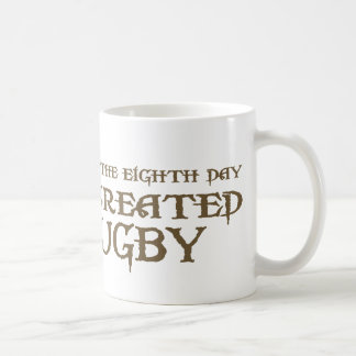 God Created Rugby Mug