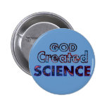 God Created Science 2 Inch Round Button