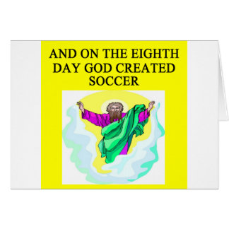 god created soccer card