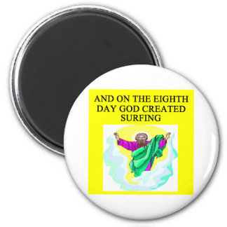 god created surfing magnet