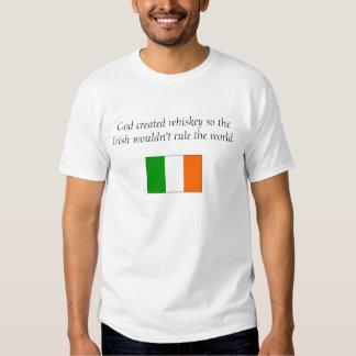 God created whiskey... t shirts