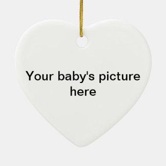 God creating life ceramic heart ornament