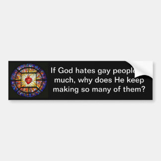 God Does Not Hate Bumpersticker. Bumper Sticker