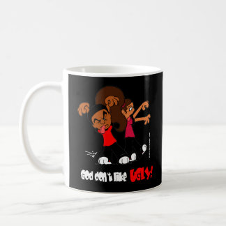"""God don't like UGLY!"" Black Mug"