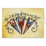 God Family Country America Cards