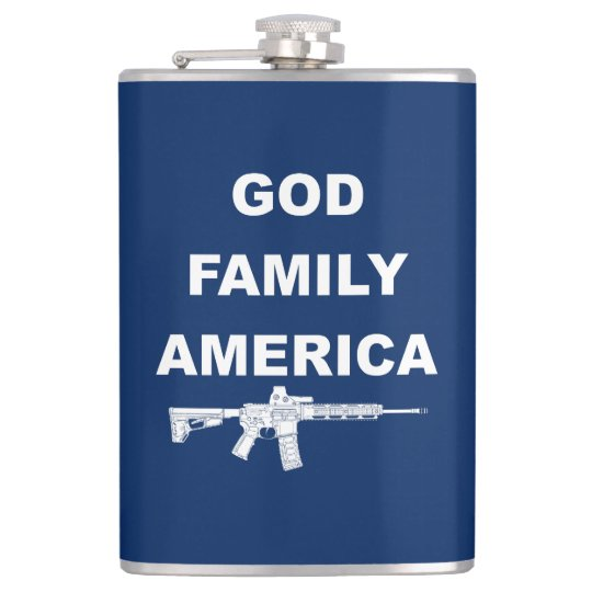 God Family Country Hip Flask