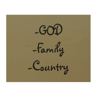 """""""GOD Family Country"""" Wood Wall Art Wood Canvases"""