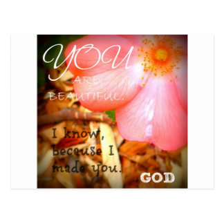 God Flower Postcard