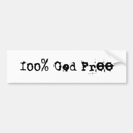 God Free Bumper Sticker