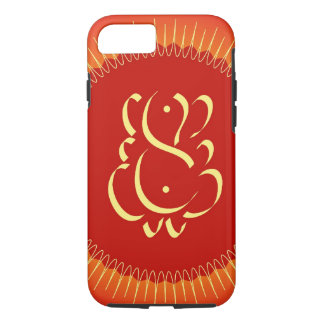 God Ganesha with sun rays iPhone 7 Case