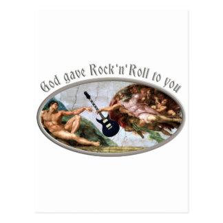 God gave skirt and roll ton you postcard