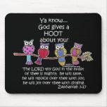 God Gives a Hoot Owls Mouse Pad