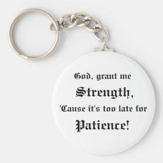 God, Grant Me Strength keychain