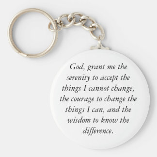 God, grant me the serenity to accept the things... basic round button keychain