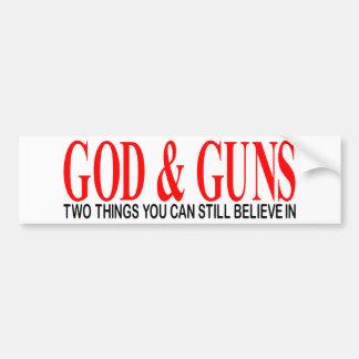 GOD & GUNS BUMPER STICKER