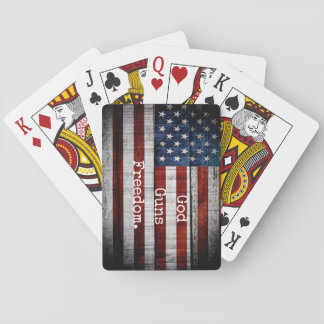 God Guns Freedom Playing Cards