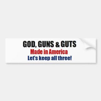 God Guns & Guts  - pro gun troops Bumper Sticker
