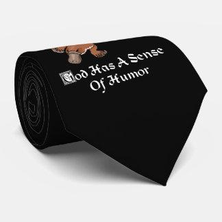 God Has A Sense Of Humor - Funny Platypus Tie