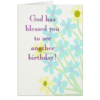 God has blessed you birthday Card