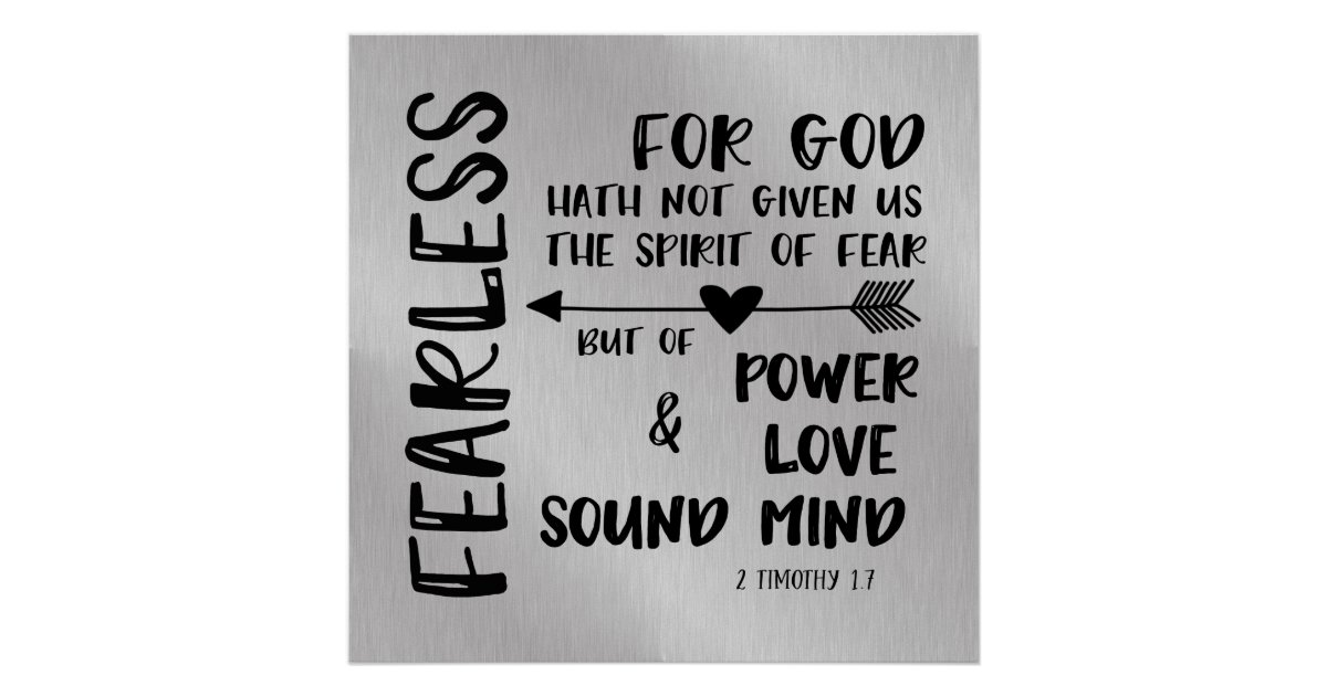 Image result for God has not given us the spirit of fear