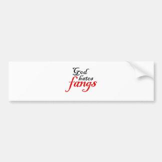 God Hates Fangs Bumper Sticker