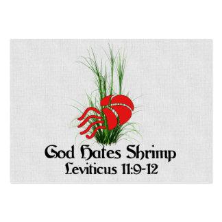 God Hates Shrimp Large Business Card