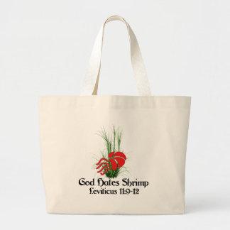 God Hates Shrimp Large Tote Bag