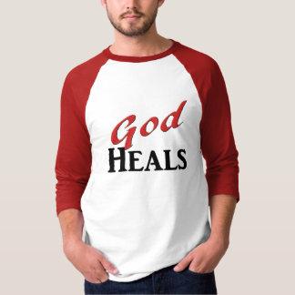 God Heals red black T-Shirt
