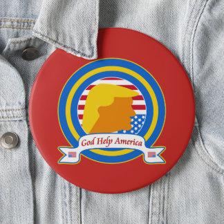 God Help America Resist Anti Trump Funny 6 Inch Round Button