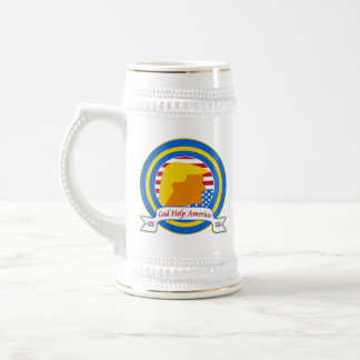 God Help America Resist Anti Trump Funny Beer Stein