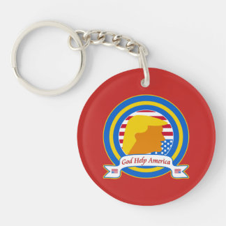 God Help America Resist Anti Trump Funny Keychain