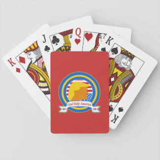 God Help America Resist Anti Trump Funny Playing Cards