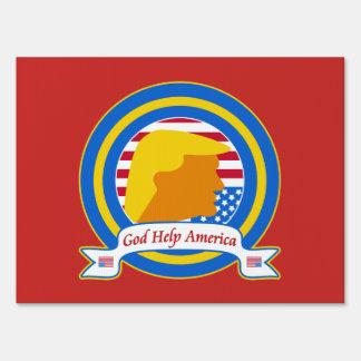 God Help America Resist Anti Trump Funny Sign