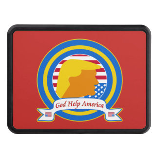 God Help America Resist Anti Trump Funny Trailer Hitch Cover