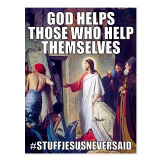 God Helps (SJNS) Postcard