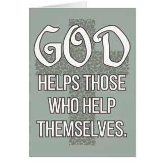 'God helps those who help themselves' Quote Card
