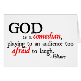 God is A Comedian Card