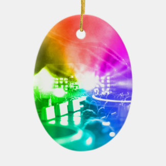 God is a DJ Ceramic Ornament