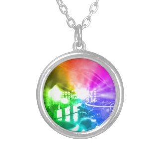 God is a DJ Silver Plated Necklace