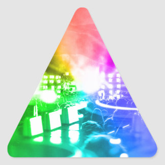 God is a DJ Triangle Sticker