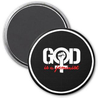 GOD IS A FEMINIST --  white - Magnet